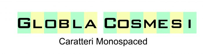 Caratteri Monospaced font
